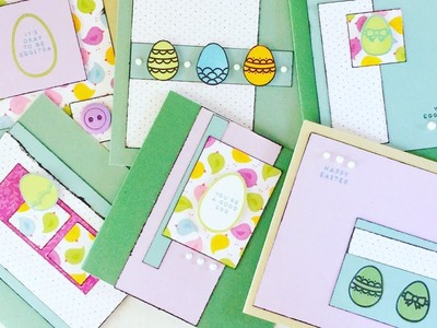 How to Make 6 Cute Easter Cards FAST!