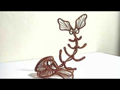 How to make a cool 3D fishbone from copper wire by irghost