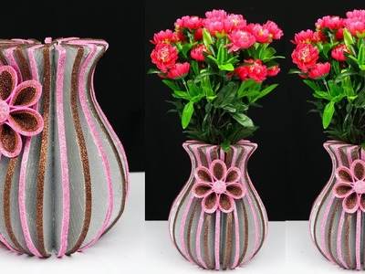 How to Make A Flower Vase At Home | Best Out Of Waste | Home Decor Ideas
