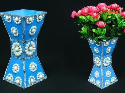 How to Make A Flower Vase At Home   Flower Vase Making   Home Decor Ideas