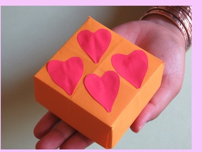 How To Make A Gift Box From Paper Step By Step