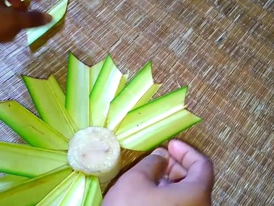 How  to make a Palm flower 4(coconut leaf)