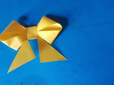 How to make a paper Bow.Ribbon   Easy origami Bow.Ribbons for beginners making   DIY-Paper Crafts