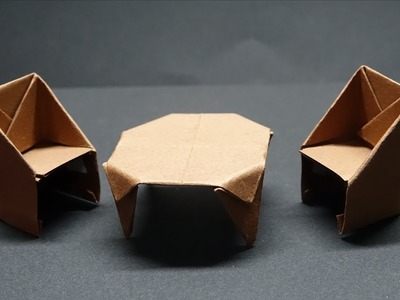 How to make a paper Chair - DIY Origami Paper Crafts - Easy Origami