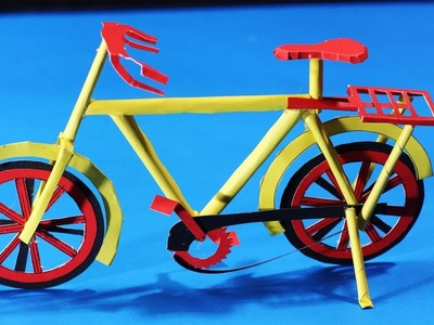 How To Make A paper cycle - DIY easy Craft - push bike