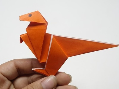 How to make a Paper Dinosaur - Easy Origami Dinosaur