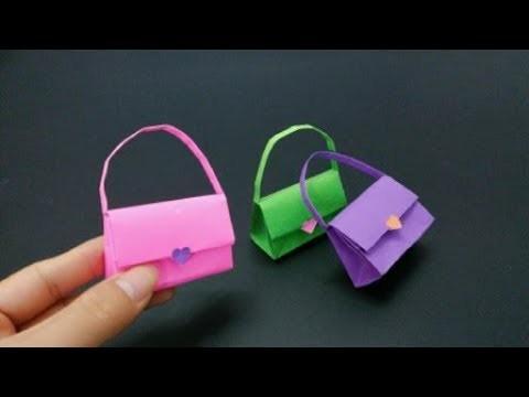 How to make a Paper Handbag | Origami Handbag | DIY paper crafts | Easy Origami step by step