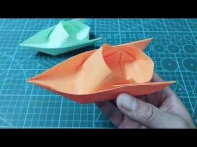 How to make a Paper Speed Boat   Easy Origami tutorial