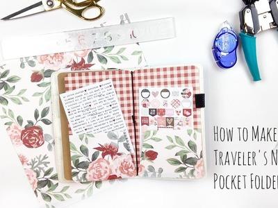 How to Make a Traveler's Notebook Pocket Folder