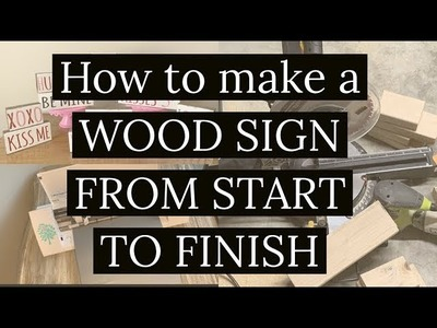HOW TO MAKE A WOOD SIGN- START TO FINISH: SILHOUETTE {STUDIOS} CAMEO