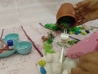 How to make amazing cup waterfall Tinkerbell fountain Show Piece