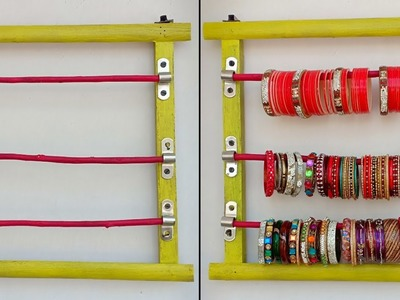 How to make Bangle Holder from Waste Wooden ! Simple ! Best out of waste | New Design Bangle Holder