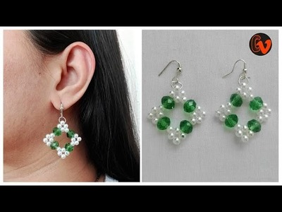 How to Make Beaded Earrings. DIY. Beginners