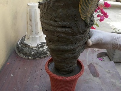 How to make beautiful cement pot at home easily
