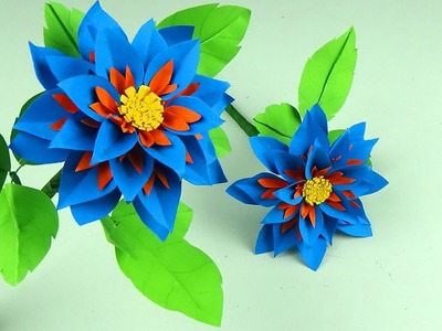 How to Make Beautiful Flower with Paper - Making Paper Flowers Step by Step - Handmade Craft