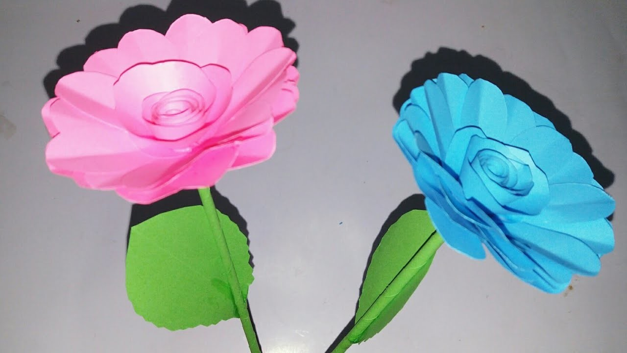 How To Make Beautiful Paper Stick Flower Diy Hand Craft Ideas For