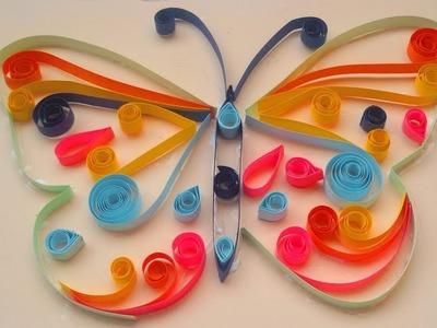 How to make butterfly with quilling paper easy # how to make butterfly with paper simple tricks
