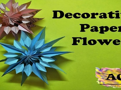 How to make Decorative paper flowers for home decor in a very easy way???? - By Agarwal Crafters