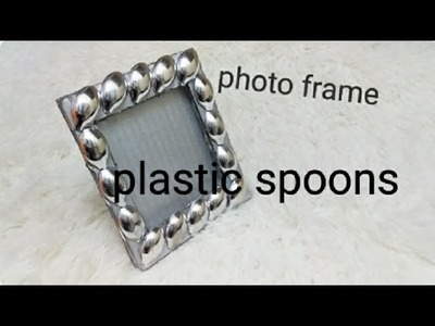 How to make Diy a Unique Photo frame at home with cardboard|Diy photo frame Using Plastic Spoon