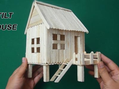 How to make ice cream stick house easy - Stilt House