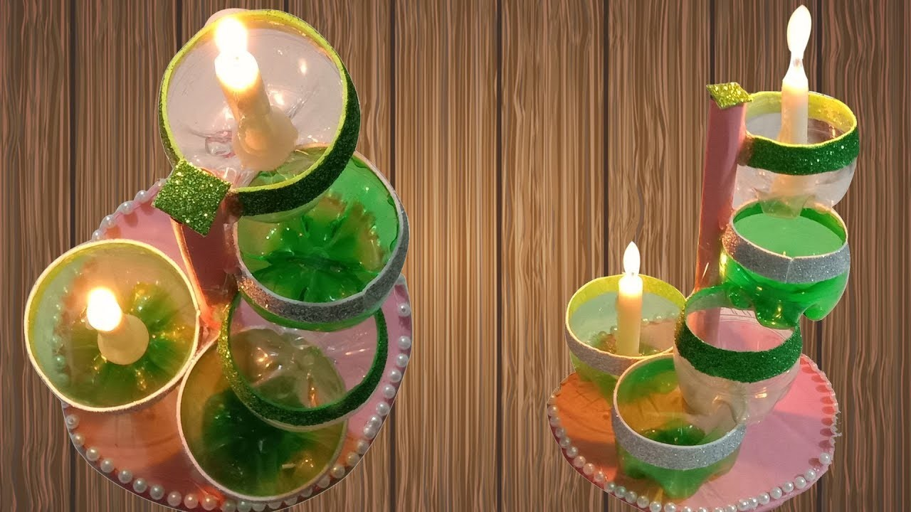 Candle How To Make Led Candle Holder Using Plastic Bottle Diy Plastic Bottle Craft Ideas Art And