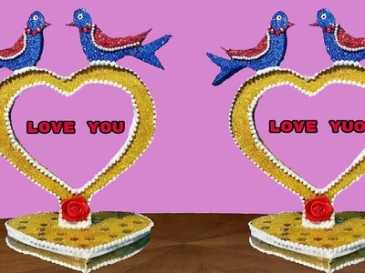How to make love showpiece ||diy gift itme showpiece||hand made gift||room decoration idea