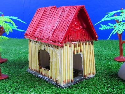 How to Make Matchstick House at Home   Match House Fire