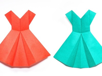 How to Make Paper Dress - Origami Paper Crafts 1101