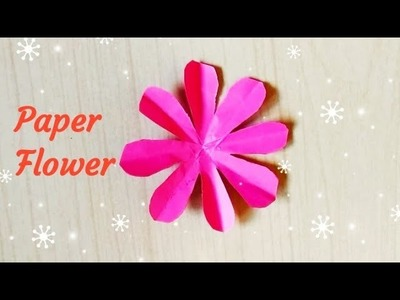 How to make Paper Flower Origami   Flower Making   DIY Paper Crafts