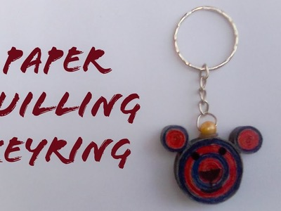 How to make paper keyring | Quilling keyring tutorial | The Best Crafts