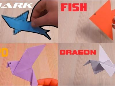 How to Make Paper SHARK,FISH,BIRD,DRAGON | Origami SHARK,FISH,BIRD,DRAGON | Paper Art and Craft
