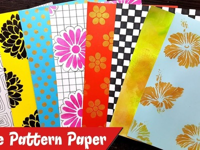 How to make Patterned Papers at Home   Create your own Pattern Papers   Scrapbook or Notebook Cover