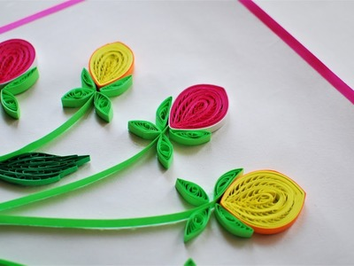 How to make Quilling Rose Buds