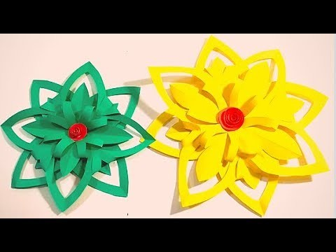 How To Make Simple Paper Cutting Flower Easy Paper Cutting
