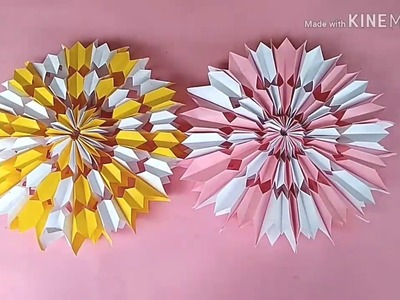 How to make Snowflake paper flower 2019
