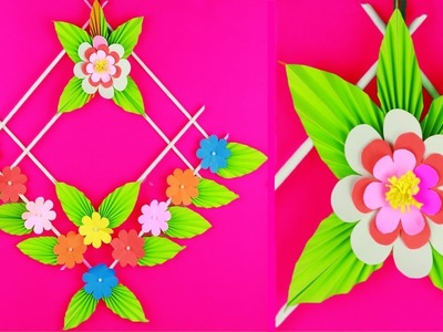 How to Make Wall Hanging With Paper ???? Paper Flowers Wall Decoration | Wall Hanging Craft Ideas 2019