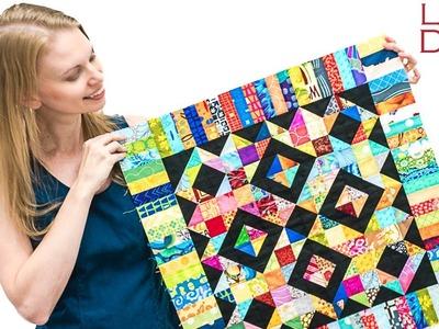 How to Piece a Scrap Overload Block - Friendship Quilt Block #5