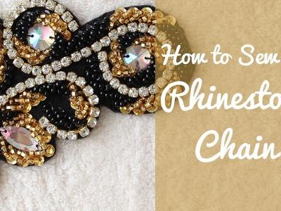 How to Sew on Rhinestone Chain Beautifully