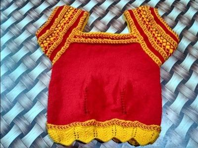 Knitting Sweater for Ladies in Hindi - Half sleeves designer blouse | choli wali blouse part7