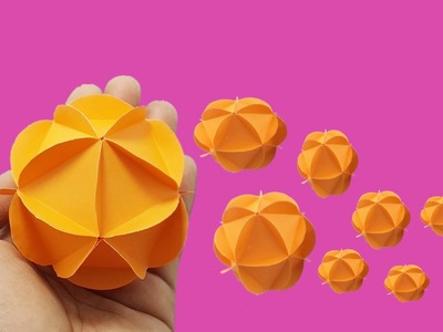 Only one minute origami paper ball easy crafts tutorial - how to make hanging paper ball decorations