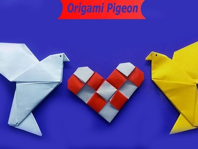 Origami Crafts Pigeons Bird 2019 | How To Make Pigeon With Paper For Kids
