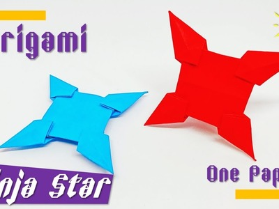 Origami Ninja star with one paper | How to make a paper Ninja star