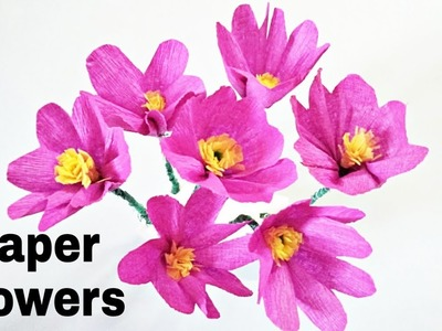 Papar flowers    how to make Flowers at home   best out of waste
