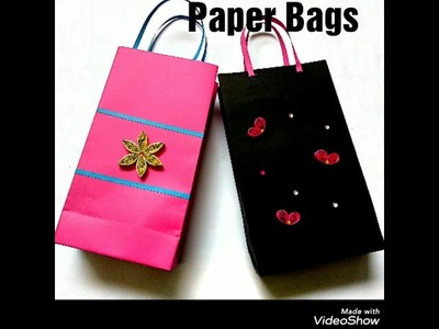 Paper bags, How to make paper bag, Paper crafts, Bags made with paper, How to make bag, Gift bags