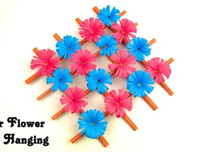 Paper Flower Wall Hanging | How to Make Paper Flower Wall Decoration | Home Decor Ideas