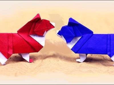 Paper Folding Art Origami: How to Make Corgi (Designed by Steven Casey)
