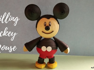 Quilling Mickey Mouse | How to make Mickey Mouse | Quiling Paper Art