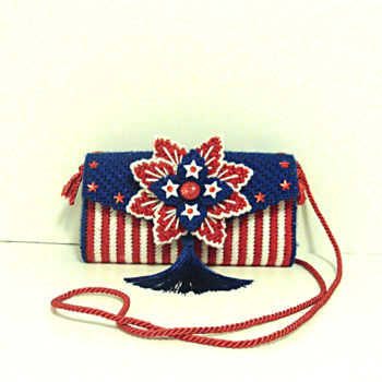 Red,White & Blue Patriotic Clutch