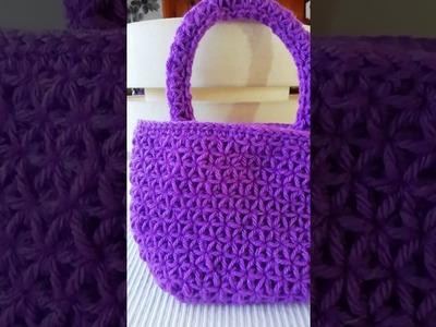 Tiny bag in Star Crochet Stitch