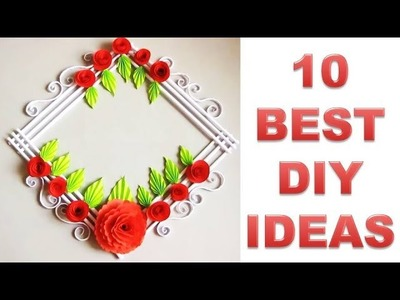 10 AMAZING Wall Hanging Making at Home | Paper Flower Wall Hanging
